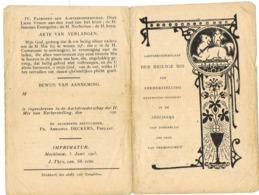Tongerlo: 1903 , Aartsbroederschap Der Heilige Mis Van ... ( 2 Scans) - Andachtsbilder