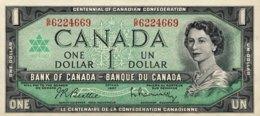 Canada 1 Dollar, P-84b (1967) - UNC - Canada