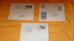 LOT DE 3 ENVELOPPES DE 1963 A 1965.../ CACHETS JOURNEES DES NATIONS UNIES, FOIRE INTERNATIONALE CASABLANCA MAROC + TIMBR - Marokko (1956-...)
