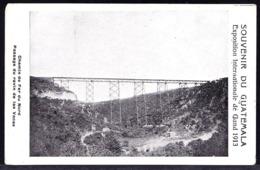 Souvenir Du GUATEMALA - CHEMIN DE FER DU NORD  - PASSAGE RAVIN DE LAS VACAS - NORTHERN RAILWAY - Guatemala