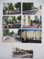 MONTPELLIER (34) BUS De La SMTU Avant Le Début Des Travaux De La Ligne De Tramway 1 - LOT De 7 Photos - Septembre 1998 - Coches