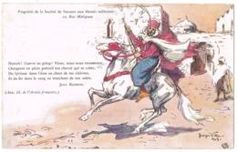 Croix Rouge Française: 'Hurrah! Guerre Au Galop! ...' ( 2 Scans) - Militaria