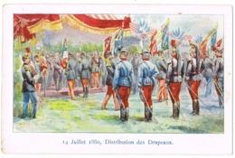 14 Juillet 1880, Distribution Des Drapeaux( 2 Scans) - Militaria