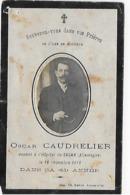ANNOEULLIN  Souvenir De Décès De Oscar CAUDRELIER En 1918 - Autres Communes