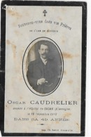 ANNOEULLIN  Souvenir De Décès De Oscar CAUDRELIER En 1918 - France