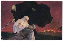 """'La """"Kultur"""" Menace Miss Cavell Soignant Un Ennemi Blessé.'( 2 Scans) - Guerre 1914-18"""