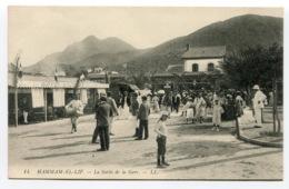 RC 13821 ALGERIE HAMMAM EL LIF LA SORTIE DE LA GARE TB - Autres Villes