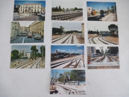 MONTPELLIER (34) BUS De La SMTU Pendant Les Travaux De La Ligne De Tramway 1 - LOT De 16 Photos - Aout 1999 - Automobiles
