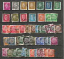 Germany - Presidents (mainly Used) - Used Stamps