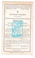 DP Kerkmeester - Theodorus J. Coppieters 32j. ° Brugge 1851 † 1884 - Images Religieuses