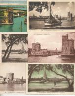 Cp, LA ROCHELLE , Bateaux , Le PORT , LOT DE 6 CARTES POSTALES - 5 - 99 Cartoline