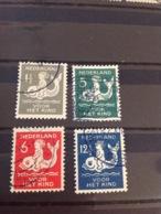Netherlands 1929 Child Welfare Fund Used SG 381-4 NVPH 225-8 - 1891-1948 (Wilhelmine)