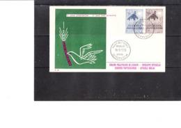 1025/6 Europa 1957 - Six épais De Blé,symbole De La Pais Et De La Prospérité - FDC