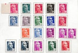 FRANCE 1945:  Lot De Neufs** (2x),  Neufs* (18x) Au Type 'Marianne De Gandon'  TB - Frankreich