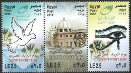 EGYPTE Journée De La Poste 2012 3v Neuf ** MNH - Neufs