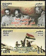 EGYPTE 40ans Guerre /Israël 2v 2013 Neuf ** MNH - Neufs