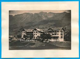 Suisse Vaud * Hôtel Des Diablerets - Photo Albumine 1880 - Voir Scans - Photographs