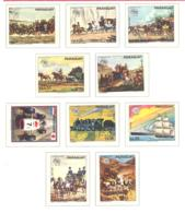 Paraguay  Michel #  2556 - 2565 **  UPU 1874 1974 - Trains