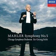 CD  Mahler Symphonie N 5 Chicago Orchestra Sir Georg Solti   Etat: TTB Port 110 GR - Classical