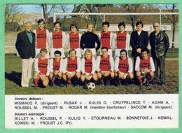 NANTEUIL LE HAUDOIN - EQUIPE DE FOOTBALL - OFFERT PAR ROGER MEUBLE - 2 SCANS - CPSM GRAND FORMAT - Nanteuil-le-Haudouin