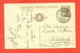 INTERI POSTALI- C61/A DA MEZZOCORONA PER VEZZANA-10/9/27-DATA ANNULLO ANTERIORE ALLA DATA EMISSIONE DELLA C.P. - 1900-44 Vittorio Emanuele III