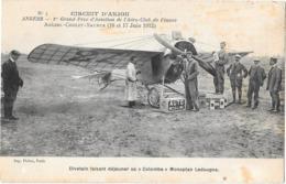 ANGERS -- Aviation Circuit D'Anjou - 1912-Angers -Cholet -Saumur- Divetain Faisant Le Plein Monoplan Ladougne - Angers
