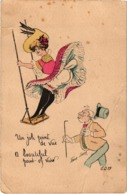 FANTAISIE - Un Joli Point De Vue - Illustration Xavier SAGER - Pli Côté Droit Et Angle Bas Gauche - Carte Postée - Fantaisies