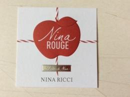 Carte Nina Ricci « Nina Rouge» - Cartas Perfumadas