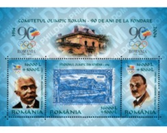 Ref. 139771 * MNH * - ROMANIA. 2004. 90th ANNIVERSARY OF THE RUMANIAN OLYMPIC COMMITTEE . 90 ANIVERSARIO DEL COMITE OLIM - Summer 1896: Athens