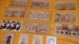 LOT DE 13  PHOTOS CARTONNEES ANCIENNES PORTRAIT ET STEREOSCOPIQUE ?...VILLE PARIS..ET SCENE..A IDENTIFIER.. - Foto