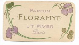 Carte Parfumée 1914/1915, Calendrier, Parfum Floramye, L. T. Piver, Paris. - Vintage (until 1960)