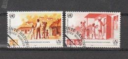 NATIONS  UNIES  VIENNE   1987      N° 69 - 70    OBLITERES         CATALOGUE YVERT - Centre International De Vienne