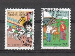 NATIONS  UNIES  VIENNE   1987      N° 77 - 78   OBLITERES         CATALOGUE YVERT - Centre International De Vienne