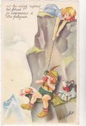 Blanchard Illustrateur De Bibiche  Ed  MD  N°575  - Enfant Montagne Alpinisme Pique Nique - CPSM  9X14 état Luxe Neuve - Cartes Humoristiques