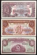 1 Pound 2à + 3à + 4à Series  BRITISH ARMED FORCES   LOTTO 2849 - Altri