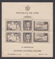 ANTONIO GUITERAS HOLMES 1951 (castaño Oscuro). EDIFIL 470. NUEVA CON MANCHAS EN LA GOMA - Cuba