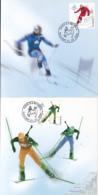 82551- TORINO'06 WINTER OLYMPIC GAMES, SKIING, BIATHLON, BOBSLED, SKATING, MAXIMUM CARD, OBLIT FDC, 4X, 2006, ROMANIA - Winter 2006: Torino
