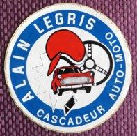 Rare Et Grand Autocollant D'Alain Legris - Cascadeur Auto Moto - Pegatinas