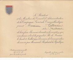 """T.T.RARE CARTON D INVITATION.INAUGURATION DU TRANSAT."""" ILE DE FRANCE """" PAR V. AURIOL PRESIDENT LE 18/07/1949.T.B.ETAT - Tickets D'entrée"""