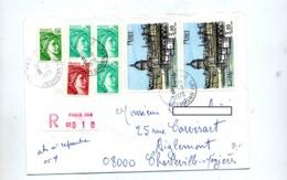 Lettre Recommandée Paris 108 Sur Buffet  Sabine - Marcophilie (Lettres)