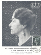 18.5.1953  - S.A.R.La  Grande-Duchesse Carlotte De Luxembourg - Cartoline Maximum