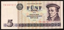 GERMANIA GERMANY Democratic Republic Ddr 5 Mark 1975   LOTTO 2851 - [ 6] 1949-1990 : RDA - Rep. Dem. Tedesca