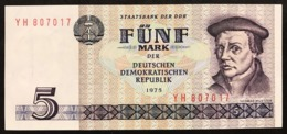 GERMANIA GERMANY Democratic Republic Ddr 5 Mark 1975   LOTTO 2851 - 5 Deutsche Mark