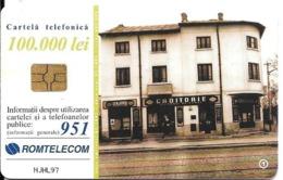 CARTE-PUCE-ROUMANIE--100000 Lei-ROMTELECOM- BUCAREST 1938-UTILISE-TBE - Romania