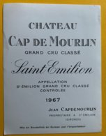 11678 - Château Cap De Mourlin 1966 Saint-Emilion - Bordeaux
