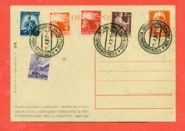 INTERI POSTALI- CURIOSITA' LUOGOTENENZA- SOPRASTAMPA PRIVATA-TIRATURA LIMITATA  A 200 COPIE- - 5. 1944-46 Lieutenance & Umberto II