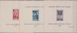 Corpo Polacco - 280 ** Corpo Polacco 1946 - Soccorso Di Guerra I Tre Foglietti N. 2/4. Cat. € 600,00. Cert. Biondi. SPL - 6. 1946-.. Republik