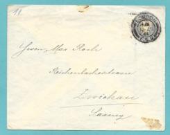ENVELOPPE 1901 LONDON F.S.9 TO ZWICHAU GERMANY - 1840-1901 (Regina Victoria)