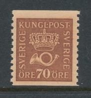 Sweden 1922 Facit # 164 70 öre. Crown And Posthorn, MNH (**) - Ungebraucht