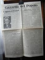 (G6) QUOTIDIANO GAZZETTA DEL POPOLO ED. MATTINO ANNO 96 N°236 - 2 OTTOBRE 1943 - Riviste & Giornali